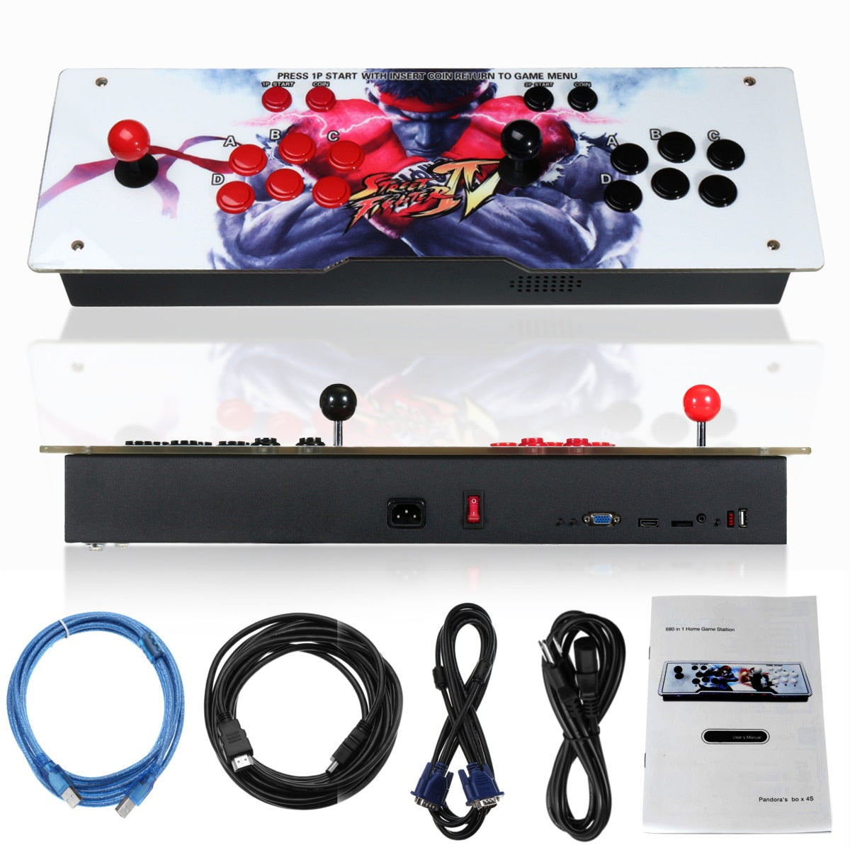 800 IN 1 Box 4s  Retro Video Games Arcade Console LED HD 2 Joystick