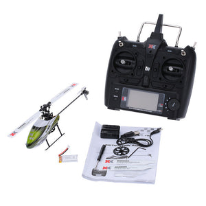 XK K100 OR K110 6CH Flybarless 3D 6G System remote control toy Brushless Motor RC Helicopter RTF