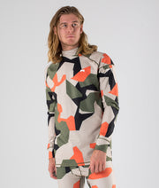 Zulu Base Layer Top Orange Green Camo