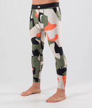 Zulu Base Layer Pant Orange Green Camo