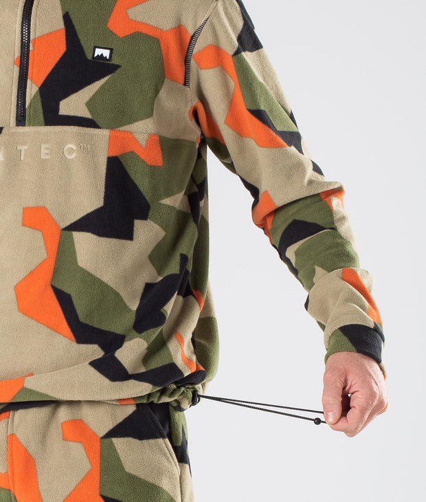 Echo Hoodie Green Orange Camo