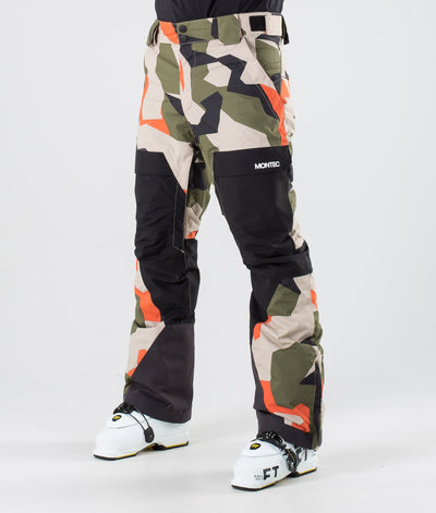 Dune Ski Pants Orange Green Camo