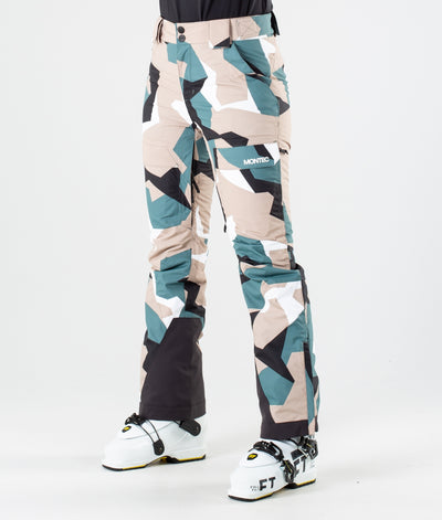Dune W Ski Pants Atlantic Camo