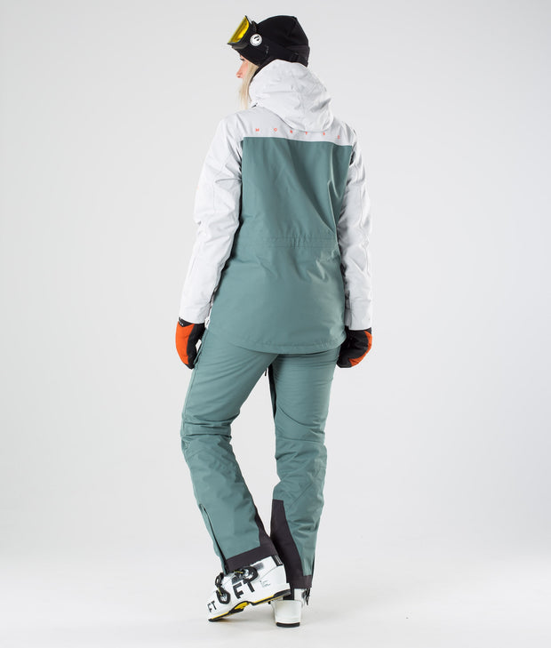 Dune W Ski Jacket Light Grey Atlantic Desert