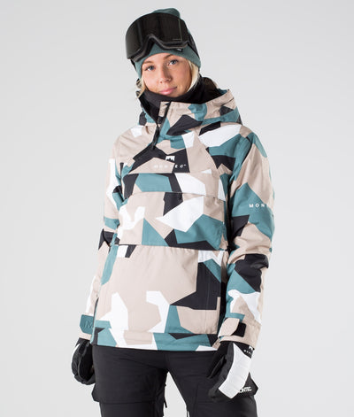Dune W Ski Jacket Atlantic Camo