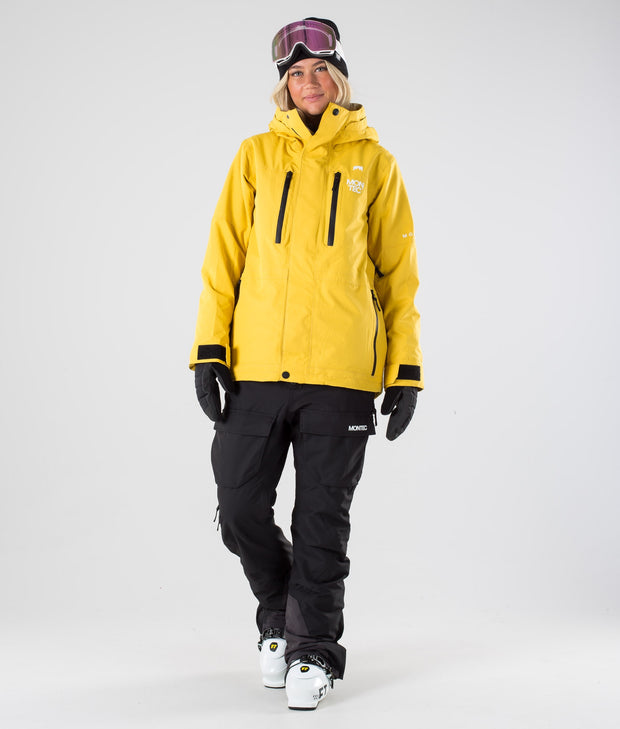 Fawk W Ski Jacket Yellow