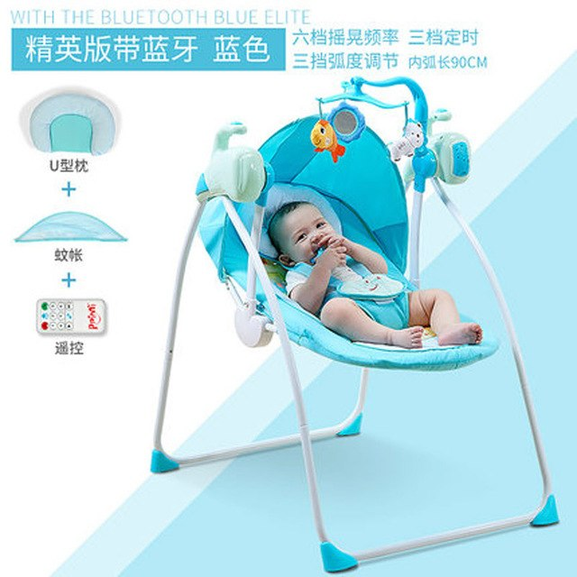 Rc Bluetooth Newborn Baby Swing Bed Electric Rocker Chair Infant