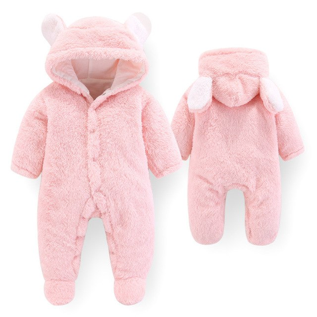 24fa8e44b ... BibiCola baby rompers spring autumn new fashion bebe girl boys hooded jumpsuit  rompers newborn thick warm