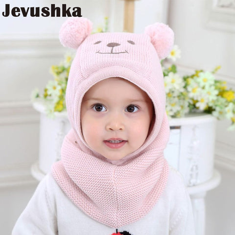1189dfc8f78 Winter Warm Knit Baby Girls and Boys Pompom Hat with Warm Fleece Lining Cute  Bear Ears
