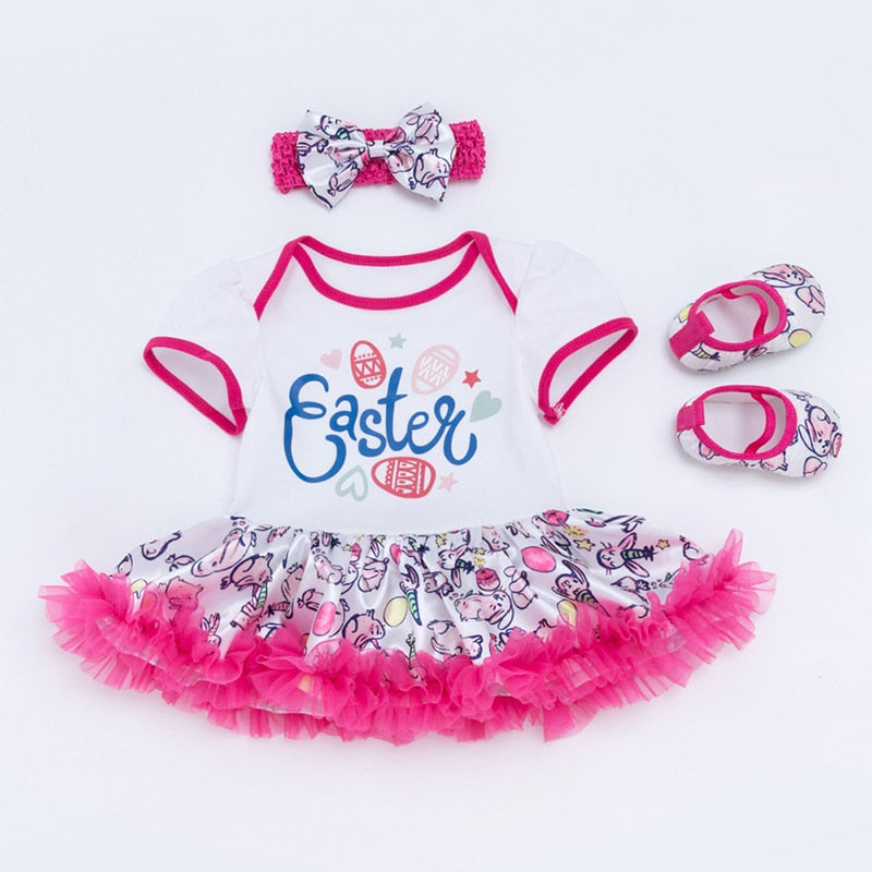 b71d8f49c Newborn Easter Clothes Baby Girls Clothing My First Easter Festival Baby's  Sets Ruffles Tutu Dress+ ...