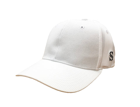 *NEW* HT111 - Smitty - Performance Flex Fit Hat - Solid White