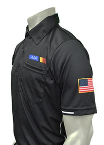 "USA310AZ - Smitty ""Made in USA"" - Baseball Men's Short Sleeve Shirt Black"