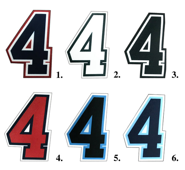 4 Inch Umpire Numbers