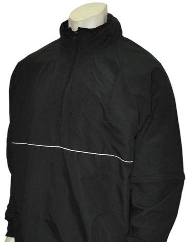 BBS323-Smitty Convertible Half Sleeve Pullover Jacket - Available in Black Only