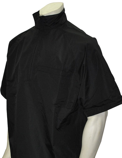 BBS326 - Smitty Major League Style Lightweight Convertible Sleeve Umpire Jacket Black
