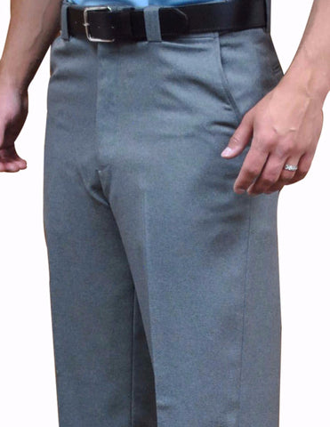 BBS381 - Smitty Flat Front Combo Pants with Expander Waist Band and Slash Pockets - Available in Heather Grey Only