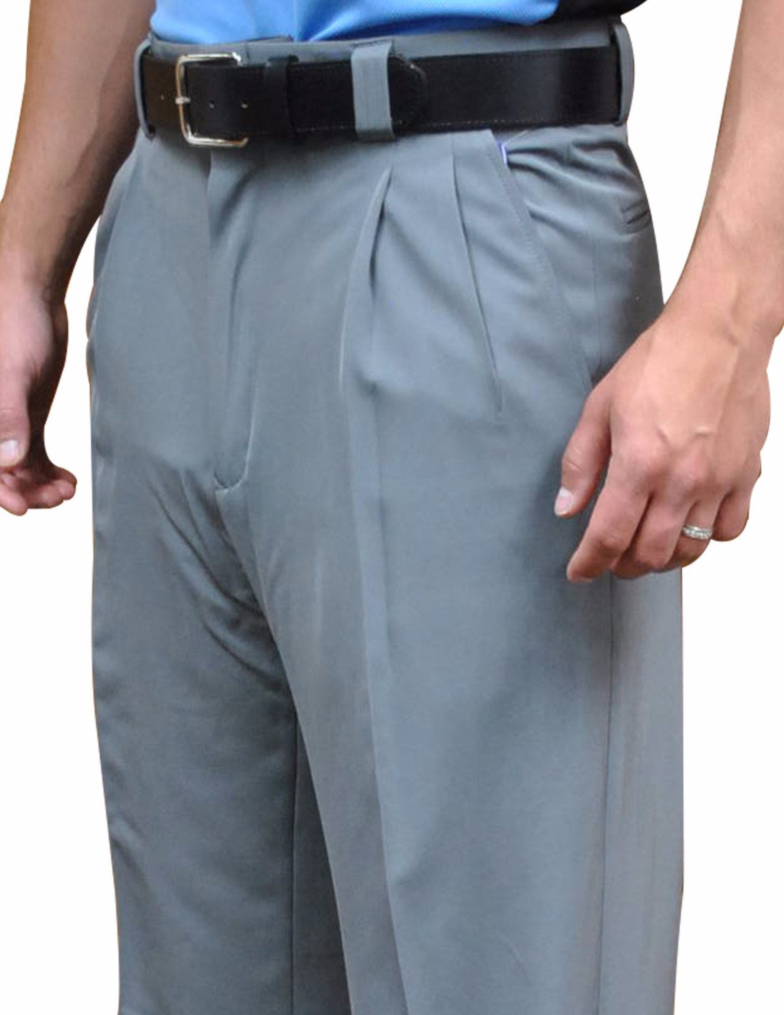 "BBS392-Smitty ""4-Way Stretch"" Pleated Plate Pants-Heather Grey"