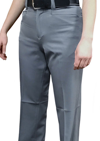 "BBS399-Smitty ""4-Way Stretch"" -  Women's Flat Front Combo Pants-Heather Grey Only"
