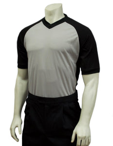 "USA207-607 - Smitty ""Made in USA"" BODY FLEX Grey w/ Black Raglan Sleeve and Black Side Panel"