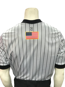 "I205-GFBK - Smitty ""Made in USA"" - GFBK IAABO Grey Basketball Men's Short Sleeve Shirt"