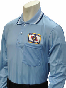 "USA301NE - Smitty ""Made in USA"" - Baseball Men's Long Sleeve Shirt Powder Blue"