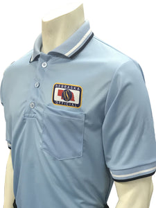 "USA300NE - Smitty ""Made in USA"" - Baseball Men's Short Sleeve Ump Shirt Powder Blue"