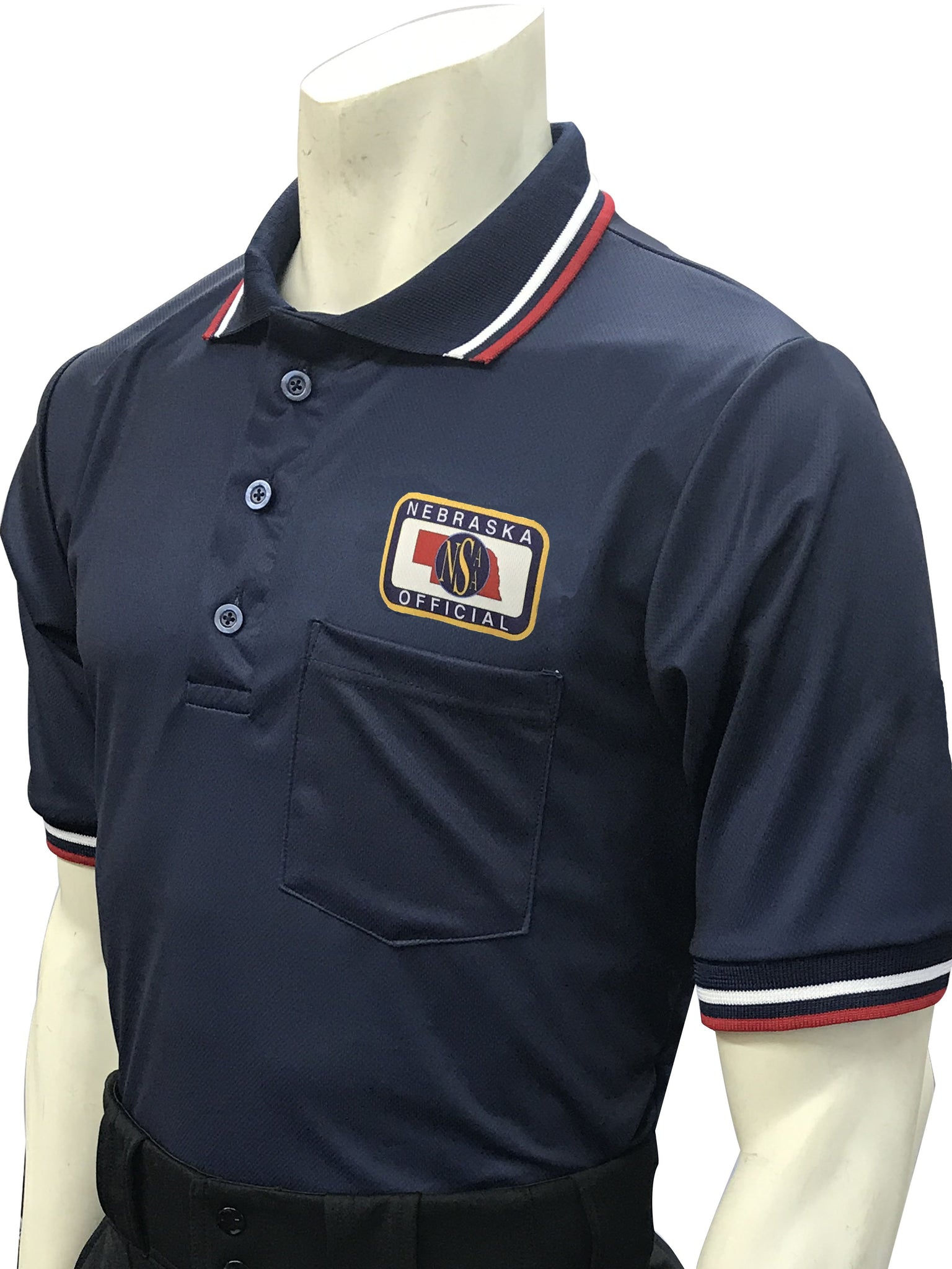 "USA300NE - Smitty ""Made in USA"" - Baseball Men's Short Sleeve Ump Shirt Navy"