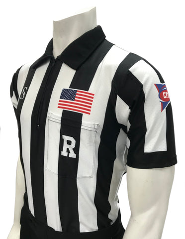 "USA115CFO-607 ""BODY FLEX""  - Smitty ""Made in USA Dye-Sublimated"" - CFO Football Short Sleeve Shirt"