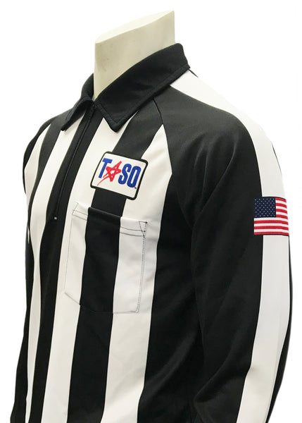 "USA730TASO-PL - Smitty ""Made in USA"" - ""TASO"" Long Sleeve Cold Weather Football Shirt w/Position Letter"
