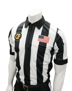 "USA109CA-607 ""BODY FLEX""  - Smitty ""Made in USA"" - Football Short Sleeve Shirt w/ Flag over Pocket"