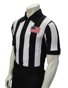 "USA109-607 - Smitty ""Made in USA"" -  ""BODY FLEX"" Football Short Sleeve Shirt w/ Flag Over Pocket"