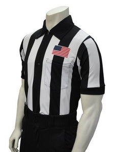 "USA109-607 ""BODY FLEX""  - Smitty ""Made in USA"" -  Football Short Sleeve Shirt w/ Flag Over Pocket"