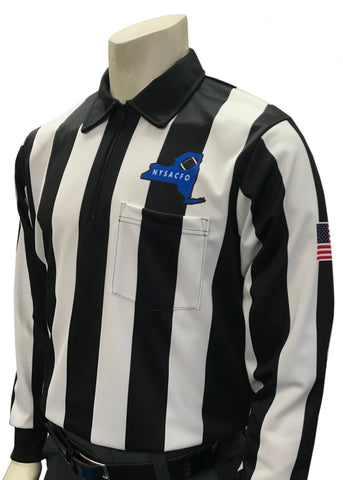 "USA110NY - Smitty ""Made in USA"" -  Football Long Sleeve Shirt w/ Logo Over Pocket"