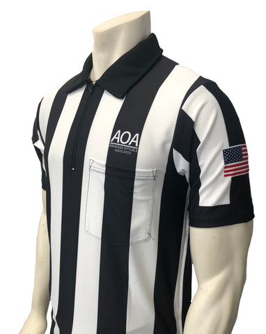 "USA130AR-607 - Smitty ""Made in USA"" - ""BODY FLEX"" ""AOA"" Short Sleeve Football Shirt"