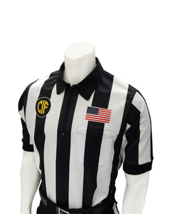 "USA137CA-607 - Smitty ""Made in USA"" - ""BODY FLEX"" Dye Sub Football Short Sleeve Shirt w/ Flag over Pocket"