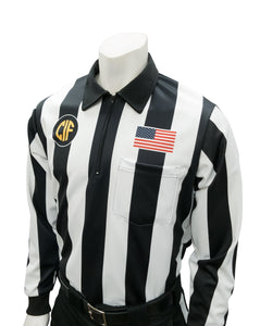 "USA138CA - Smitty ""Made in USA"" - Dye Sub Football Long Sleeve Shirt w/ Flag over Pocket"