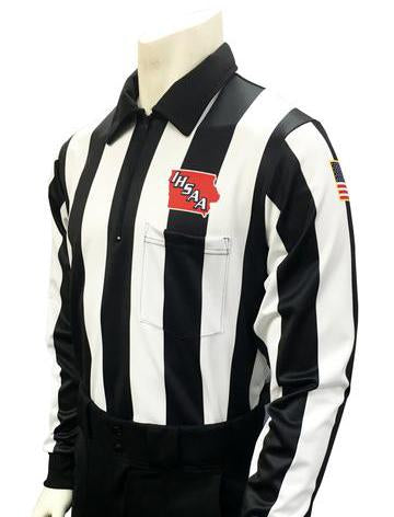 "USA730 225IA - Smitty ""Made in USA"" - Dye Sub Iowa Football Foul Weather Long Sleeve 2.25inch Stripe"