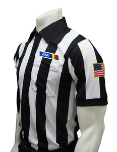 "USA142AZ-607 - Smitty ""Made in USA"" - ""BODY FLEX"" Football Men's Short Sleeve Shirt - Flag, No Position Letter"