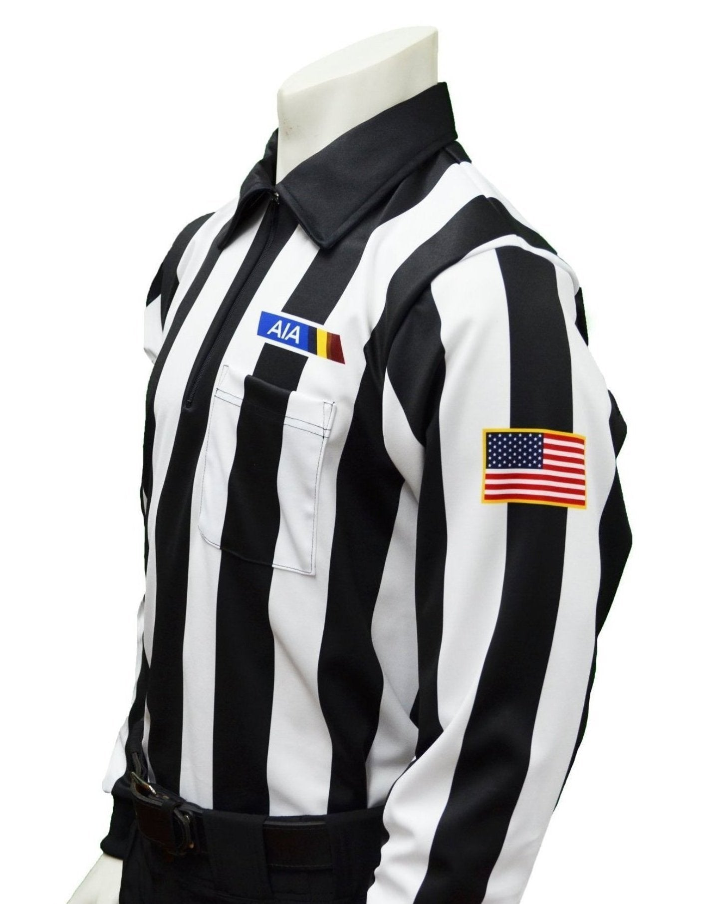 "USA144AZ - Smitty ""Made in USA"" - Football Men's Long Sleeve Shirt - Position Letter & Flag"