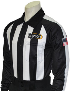 "USA730LA - Smitty ""Made in USA"" - Dye Sub Louisiana Foul Weather Water Resistant Football Long Sleeve Shirt"
