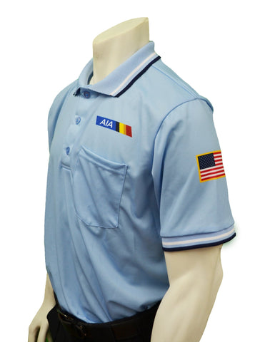 "USA300AZ - Smitty ""Made in USA"" - Baseball Men's Short Sleeve Shirt Powder Blue"