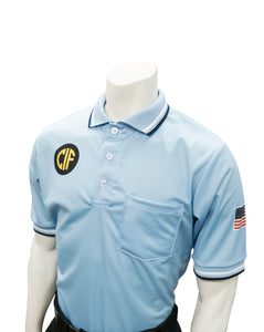 "USA300CA - Smitty ""Made in USA"" - Short Sleeve Baseball Shirt Powder Blue"