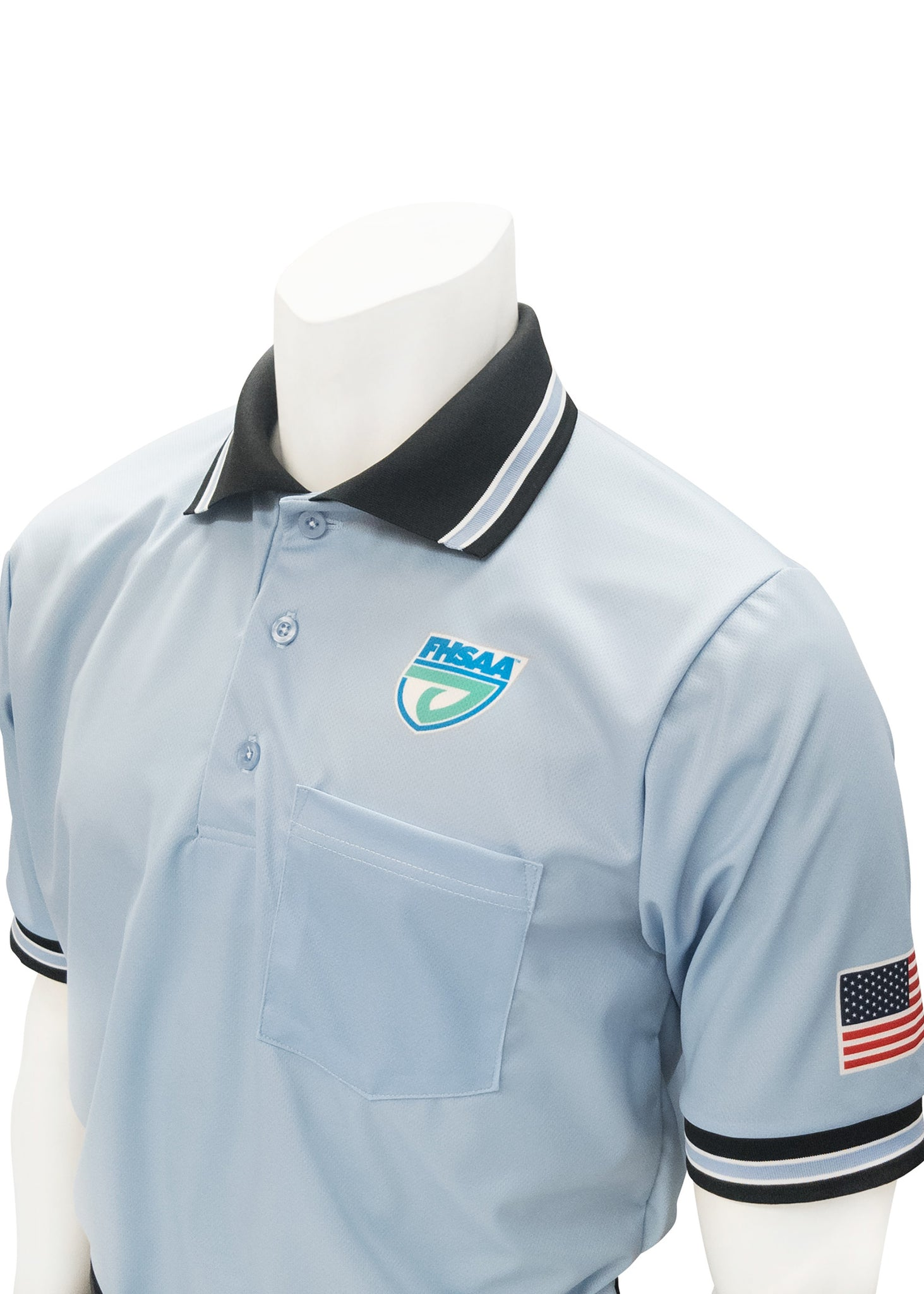 "USA300FL - Smitty ""Made in USA"" - Baseball Men's Short Sleeve Shirt Carolina Blue"