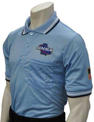 "USA300GA - Smitty ""Made in USA"" - Short Sleeve Baseball Shirt Powder Blue"