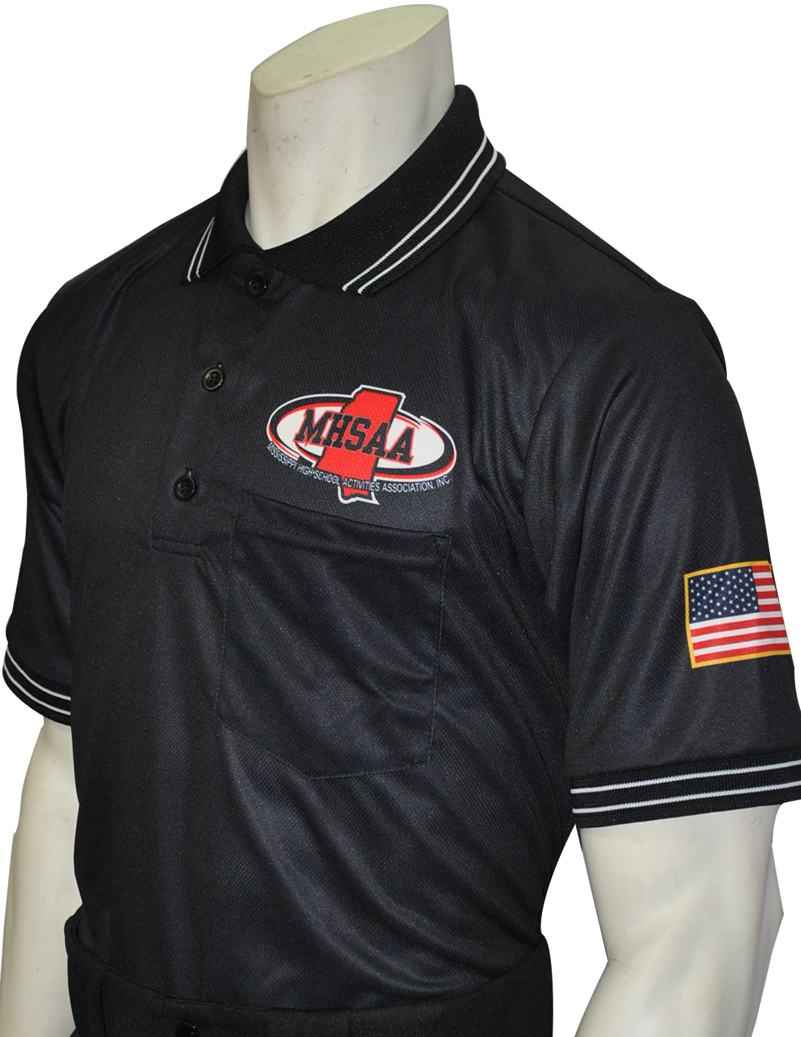 "USA300MS - Smitty ""Made in USA"" - Mississippi Baseball Short Sleeve Shirt Black"