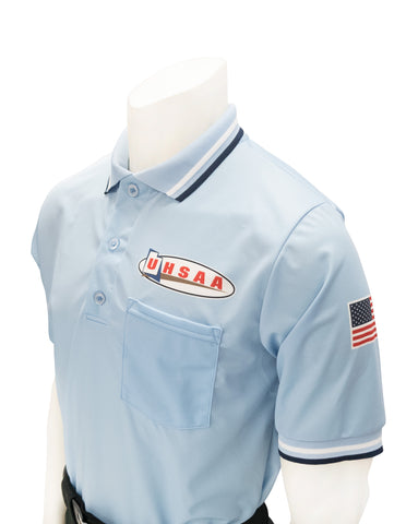 "USA300UT - Smitty ""Made in USA"" - Ump Shirt Logo Above Pocket Powder Blue"