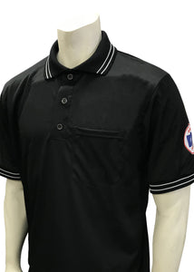 "USA300KS-WF - Smitty ""Made in USA"" - Short Sleeve Ump Shirt Black"