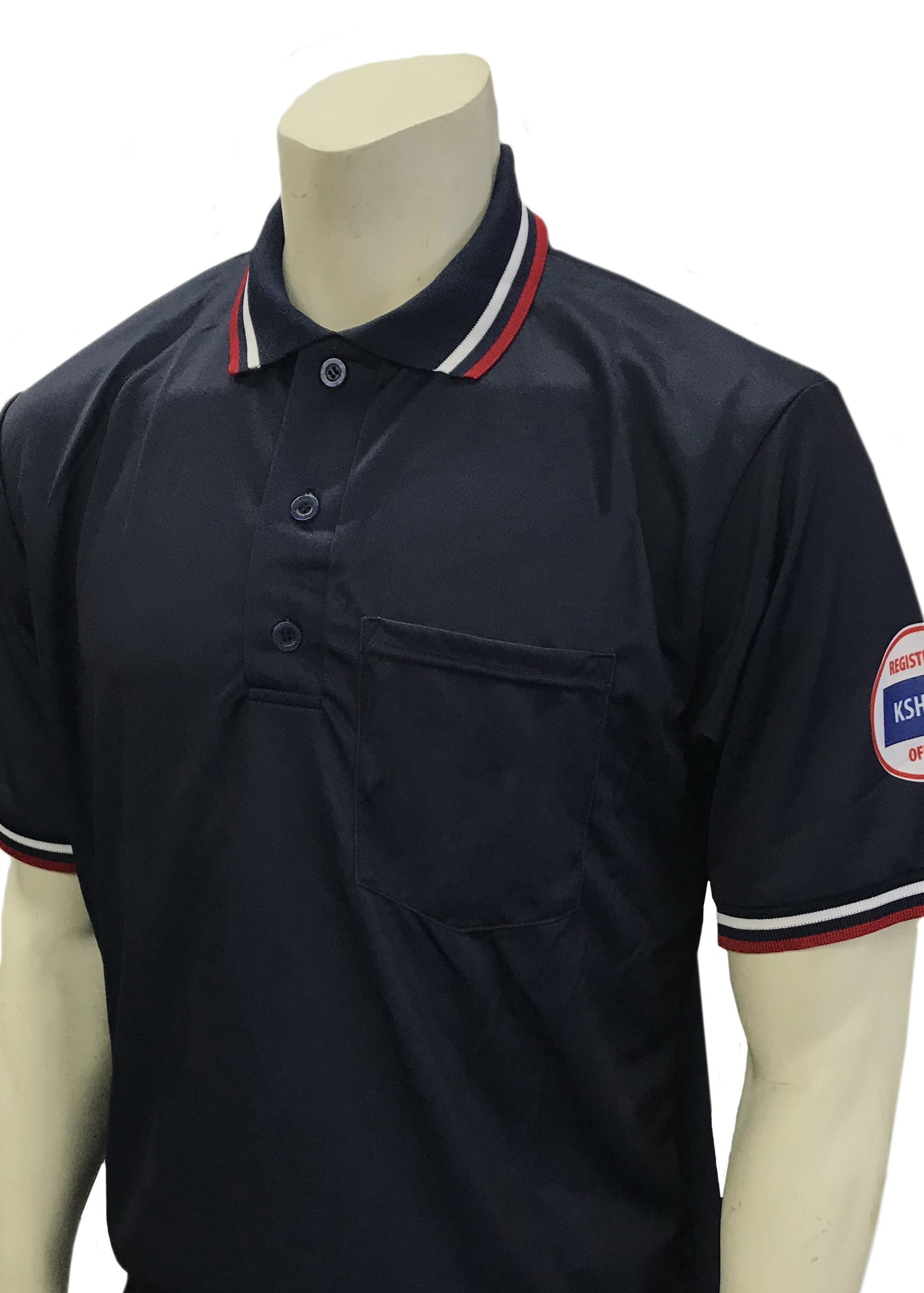 "USA300KS-WF - Smitty ""Made in USA"" - Short Sleeve Ump Shirt Navy"