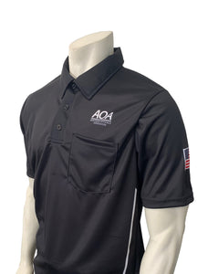 "USA310AR-BK - Smitty ""Made in USA"" - ""AOA"" Short Sleeve Black Umpire Shirt"