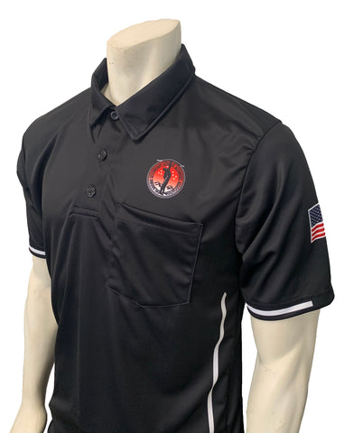 "USA310OK-BK - Smitty ""Made in USA"" - ""OSSAA"" Short Sleeve Black Softball Umpire Shirt"